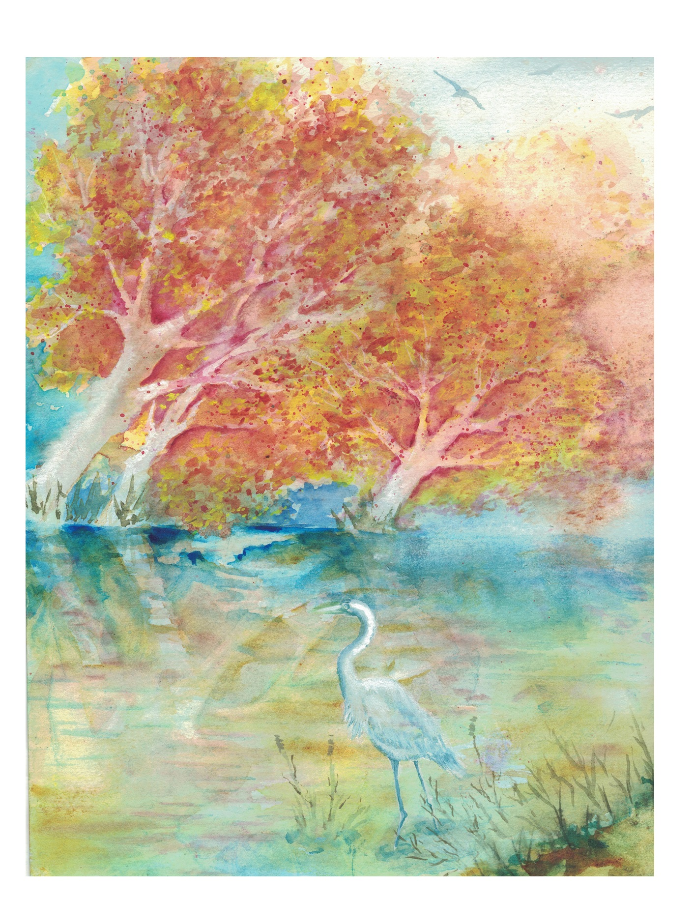 Fall Trees With Crane 1