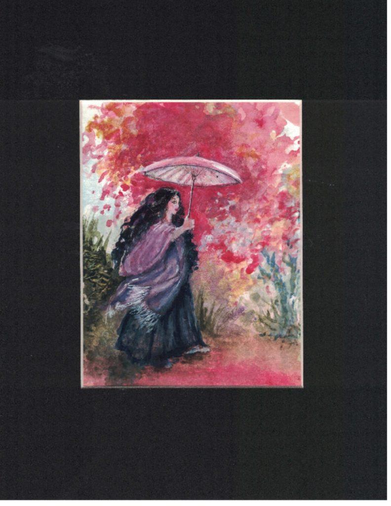 Tiny Dancer 4- Dancer with Pink Umbrella