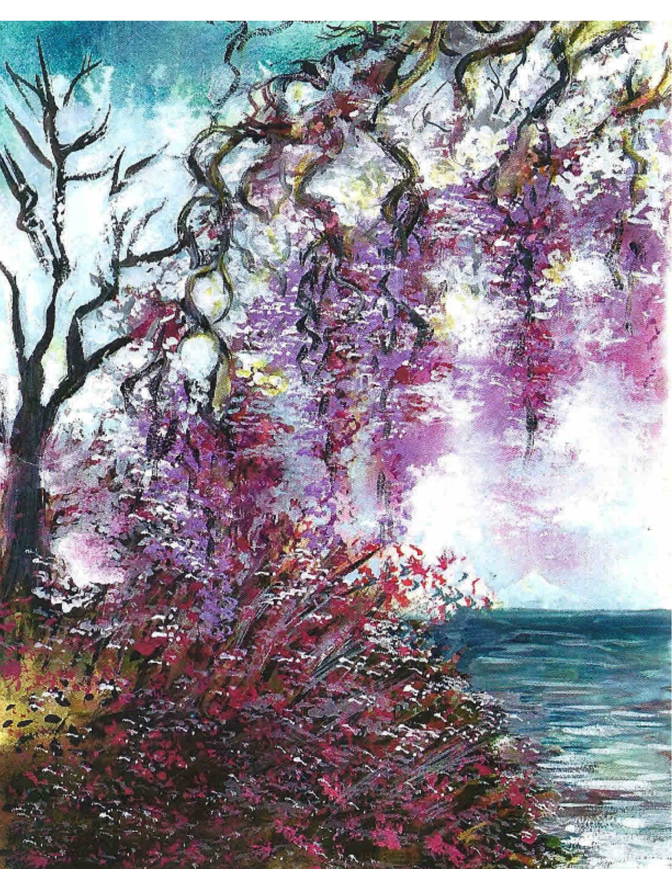 Wisteria and Ocean