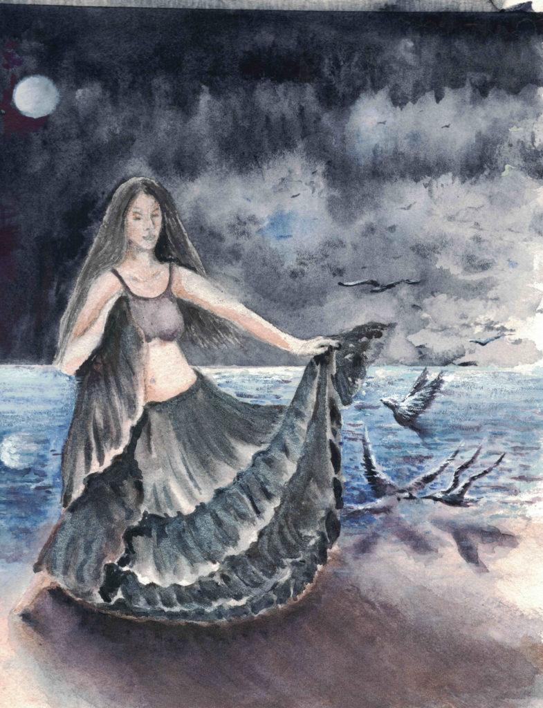 Dancer with Sea Gulls
