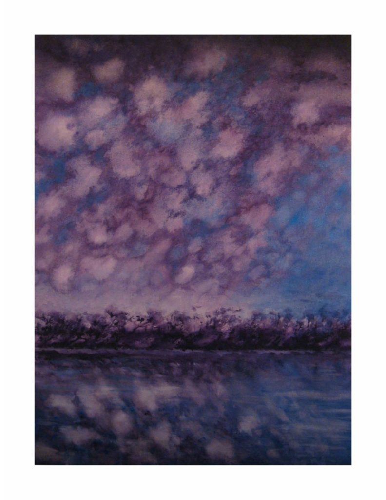 Purple-Skies-of-Hurricane-Michael-Clouds-over-Calm-Water