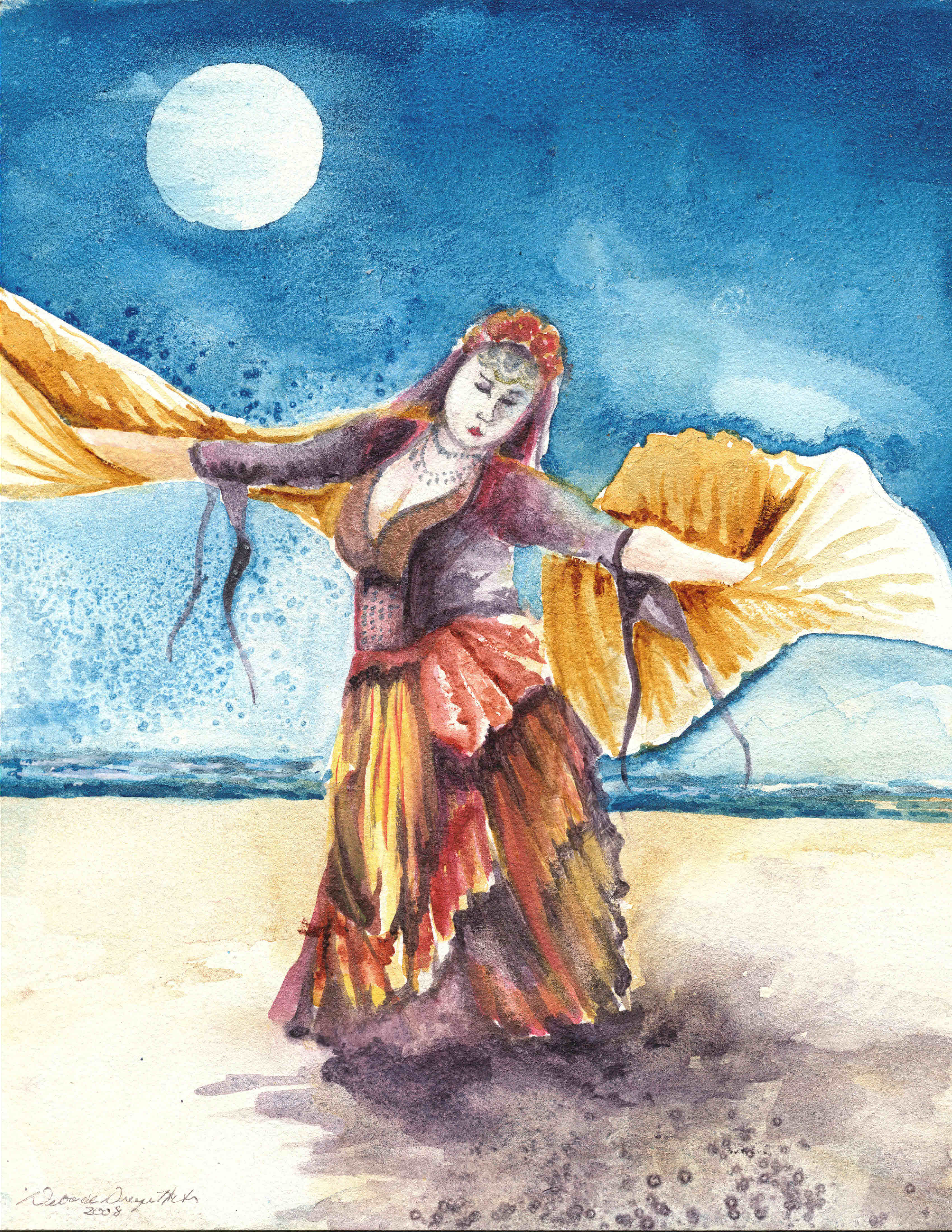 Dancer with Isis Wings