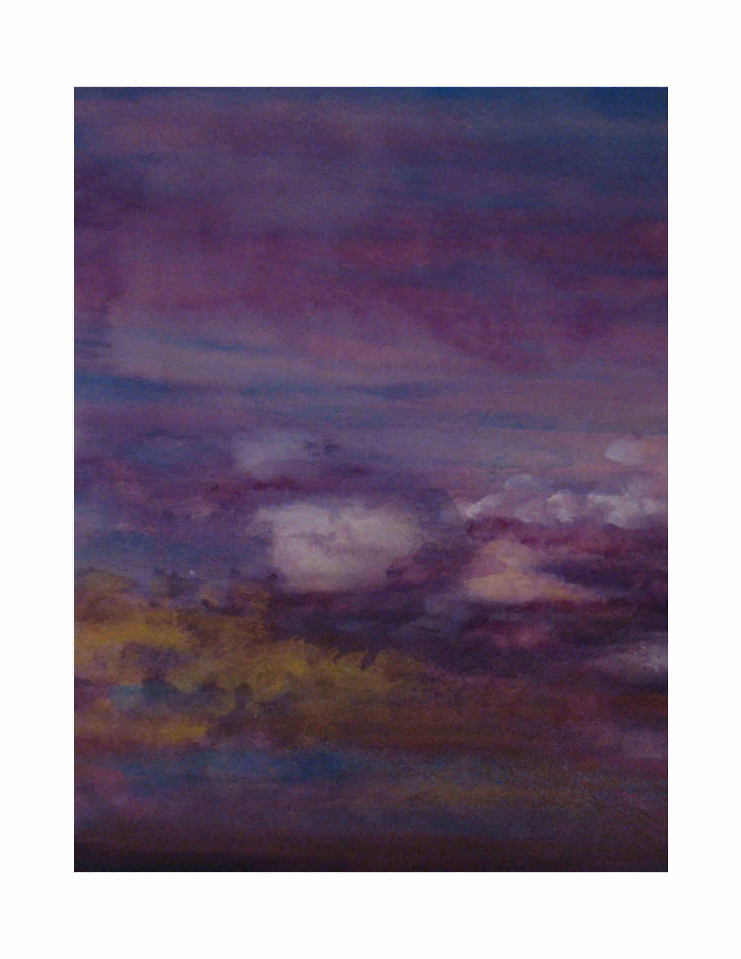 Purple Clouds Blue Sky