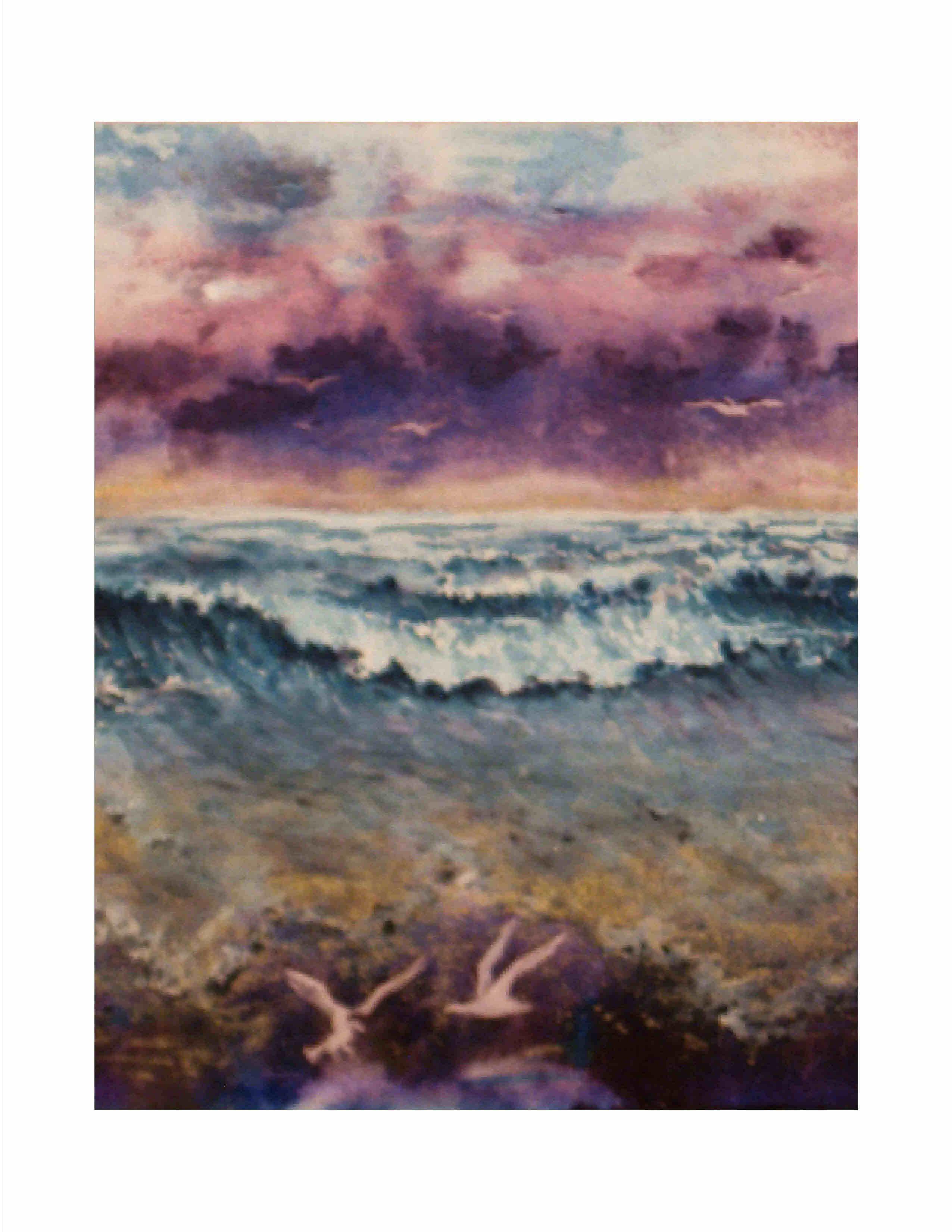 Purple Skies of Hurricane MIchael - Purple Skies with Gold Sunrise