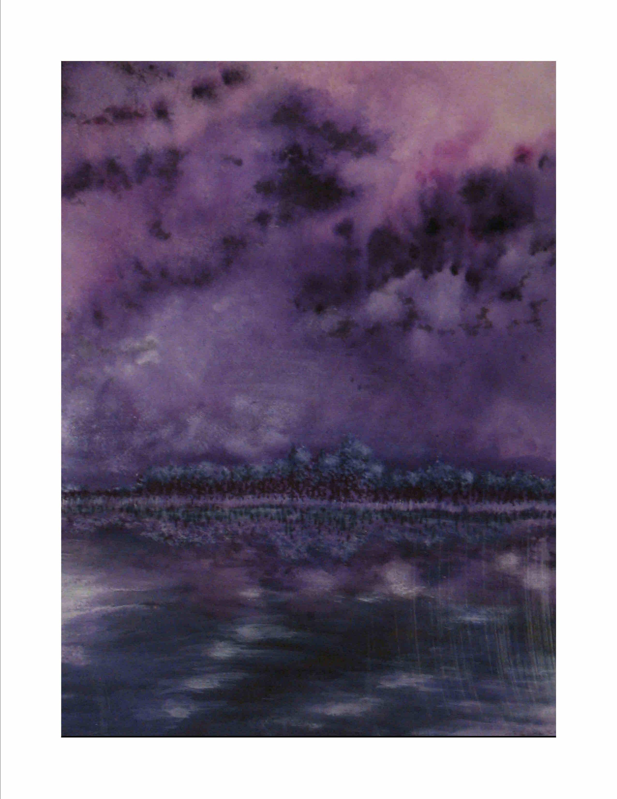 Purple Skies of Hurricane Michael - Clouds Over Powell Lake