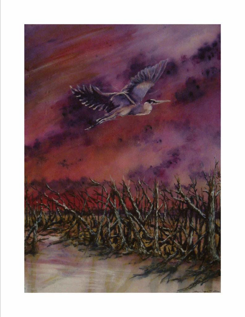 Purple Skies of Hurricane Michael - Purple Skies, Broken Trees