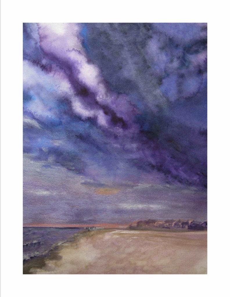 Purple Skies of Hurricane Michael - Rising Clouds on Laguna Beach FL