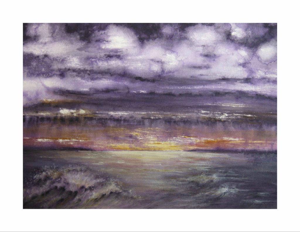 Purple Skies of Hurricane Michael, Sunrise over Panama City Beach.