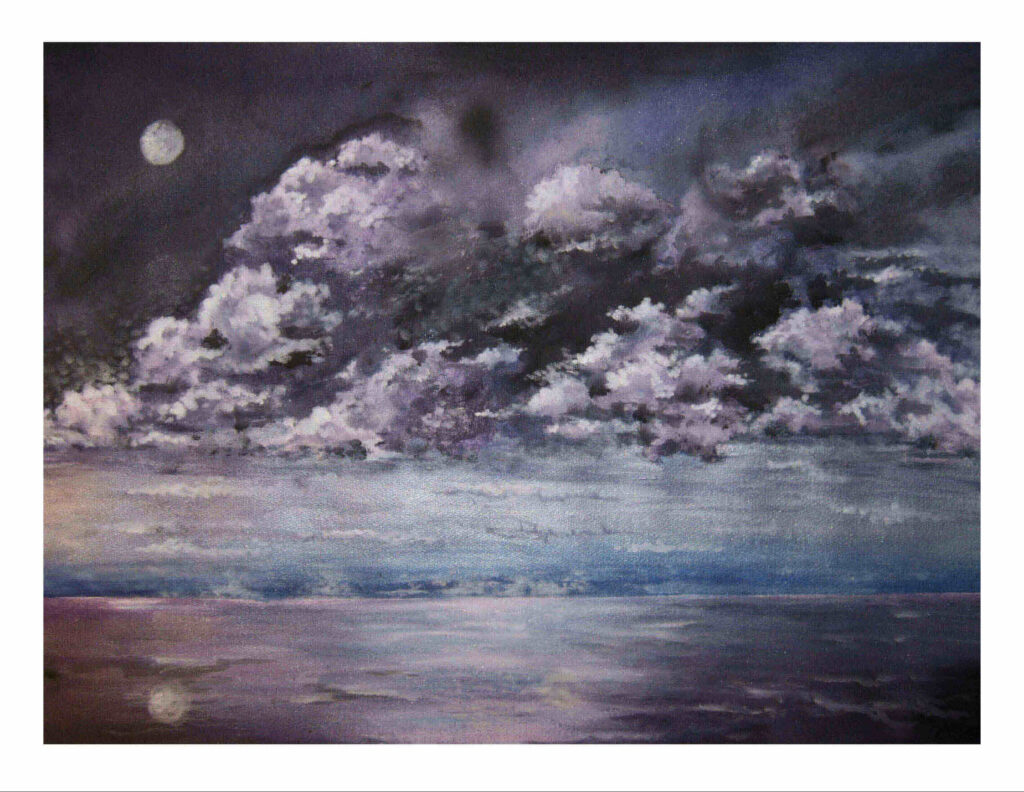Purple Sky and Moon